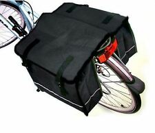 Black, Grey or Blue Large Water Proof Double Bicycle Pannier Bag for Bike Rear
