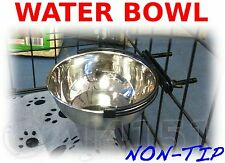 "Bolt on Pet BOWL Food or Water, For Crates Cages Dog Parrot Puppy 5"" 6"" 8"" S M L"