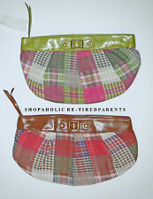 CLUTCH - PURSE – FABRIC PLAID - LIME with FUCHSIA or BROWN with RED & BLUE – NWT