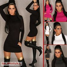 NEW SEXY SZ 6 8 10 WOMENS JUMPER SWEATER DRESS CASUAL PARTY TOP BLACK PINK WHITE