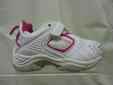 Girls Hi-Tec Trainer, Synthetic, White/Pink, Cuba EZ