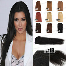 """New 14""""-26"""" Straight 100% Indian Human Hair Wave Weaving Weft Extensions 30g"""