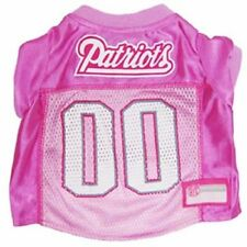New England Patriots NFL pet dog football jersey Pink  (all sizes)