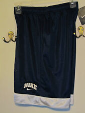 "NWT NIKE GIRLS YOUTH MESH BASKETBALL SHORTS LINED NAV BLUE 9.5"" INSEAM NEW"