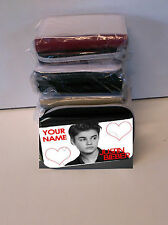 JUSTIN BIEBER PURSE - 4 COLOURS - PERSONALISE FREE -IDEAL BIRTHDAY PRESENT GIFT