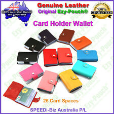 Ezy-Pouch Quality Genuine Leather Business Credit ID Card Holder Purse Wallet 26