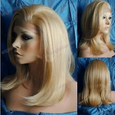 """12""""-18""""HAND TIED Synthetic Hair lace front wig #613"""