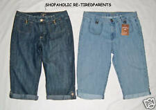 LEE RIDERS - DENIM CAPRI JEANS – STONEWASH BLUE - JUNIOR/MISSES SIZE 7/8 – NWT