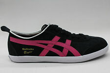 Asics Onitsuka Tiger Mexico 66 Black Pink Authentic Womens Unisex Sneakers