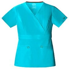 Scrubs Cherokee Workwear Core Stretch Mock Wrap Top 4751 Turquoise Buy 3 Ship $6
