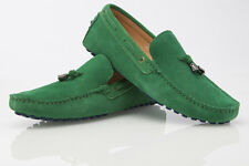NEW MENS SUEDE CASUAL SLIP ON BOAT DECK LOAFERS CASUAL DRESS GREEN DRIVING SHOES