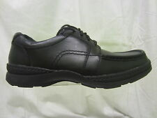 Mens Clarks Lace Up Casual Shoe, Leather, Black Line Map