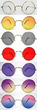 60's Round Hippie Costume Glasses Sunglasses Red Yellow Purple Smoke Clear