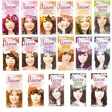 KAO LIESE Bubble Hair Color Evenly Coloured Brown Black Orange Pink Chocolat