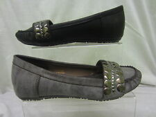 Ladies Spot On, Moccasin shoes,slip on stud design,synthetic upper,F8598 W