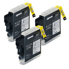 3 BLACK LC985 BROTHER Compatible Ink Cartridges