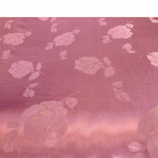 Satin Jacquard - Rose Design - Curtaining / Upholstery / Dress Fabric