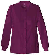 Scrubs Cherokee Luxe Warm-Up Jacket 1330  Wine FREE SHIPPING!