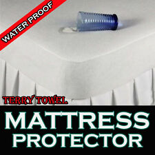 New Waterproof Terry Towel Fitted Mattress Protector Cover Single Double & King