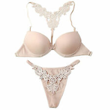 New Beige Sexy Front Closure Y Shape Back Bra Or Sets Lingerie 32A 34A 36A