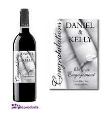 PERSONALISED ENGAGEMENT CONGRATULATIONS WINE or CHAMPAGNE LABEL