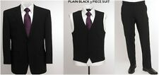 "BNWT SKOPES Wool Blend 3 Piece Suit Black,Chest 36"" to 46"" Short, Regular & Long"