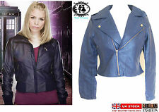 LADIES LEATHER JACKET S M L XL WOMEN RETRO STYLE BIKER VTG CROP BLAZER TOP COAT