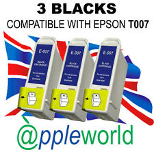 3 BLACK inks compatible with T007 cartridges [not original EPSON]