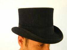 New Mens Wool Felt Black Top Hat Formal Events Wedding Hat XS S M L XL XXL XXXL