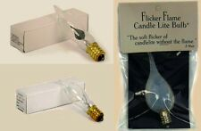 Flame Shaped Candle-Lite Flicker Clear Flicker Candelabra Bulbs Low! Lot Price!!