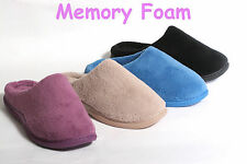 WOMENS BRAND NEW MEMORY FOAM CLOG SLIPPERS, SHOE'S, BLACK, BLUE, TAUPE, PURPLE