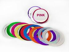 "1-3/4"" 1.75"" Mylar Metallic Accent Rings for Button Making Machines - 100 pcs"
