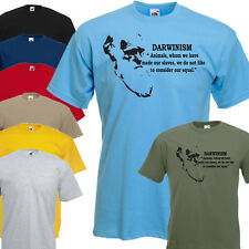 Charles Darwin Darwinism Animal Slave  Quote Vinyl T Shirt - All Sizes & Colours