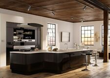 HIGH GLOSS BLACK HANDLELESS REPLACEMENT KITCHEN DOORS AND DRAWERS