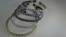 ~* STYLISH SQUARE HEAD HAIR BAND ACCESSORIES GREY PINK WHITE GOLD BLUE *~