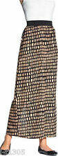 South Maxi Tribal Print Skirt Brown/Black Elasticated Waist Size UK 8-14