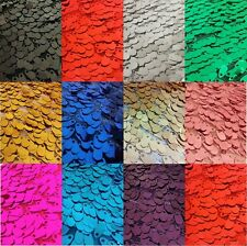 """SHINY Oval Sequins Fabric SOLD BTY 10+ COLORS 52/54 """" Wide"""