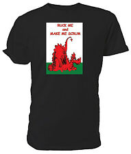Welsh Dragon T shirt, Ruck Me and Make Me Scrum, Rugby Six Nations