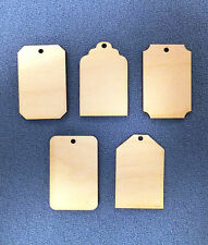 5 x Wooden 4mm Birch Plywood Craft Shapes Blanks gift tags key fobs plaques