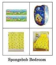 Spongebob Kids Bedroom Products Bedding, Curtains, Accessories Polycotton Single