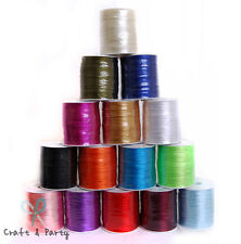 2mm x 100 yards Rattail Satin Nylon Trim Cord Chinese Knot - 15 different colors