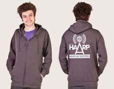 CONSPIRACY PROJECT HAARP THEORY BACK PRINT UNISEX ZIP HOODIE ALL COLOURS SIZES
