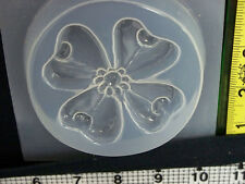 Flower reusable plastic mold resin jewelry making Rose daisy lilly leaves