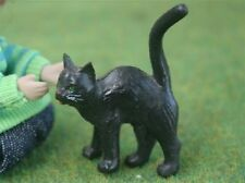 Dolls House Miniature 1/12th Scale Black Cat - various to choose from