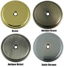 "Brass, Antique Brass, Antique Nickel, Satin Chrome 1-3/4"" Solid Brass Backplate"