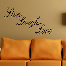 LARGE LOUNGE BIG WALL QUOTE LIVE LAUGH LOVE STICKER ART TRANSFER DECAL