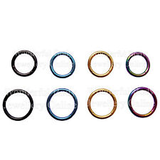1x Solid Titanium Segment Ring 14G (1.6mm) Choice of 8mm or 10mm Dia & 5 Colours