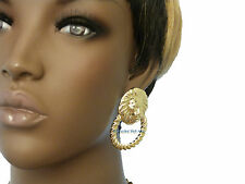 BRAND NEW~!!! Celebrity Style Lion Head Piece Post On Fashion Earring FEMQ155