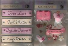 *VALENTINE'S DAY* K&COMPANY Assorted Stickers Scrapbooking WORDS HEARTS & more