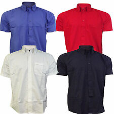Short Sleeve Shirts Mens Corporate /Workwear Button Down Collar Oxford shirt New